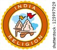 labels of India religion - stock photo
