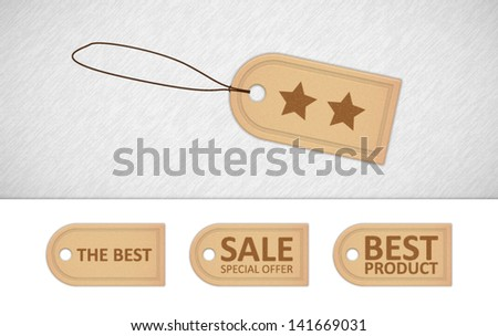 Labels offer - stock vector