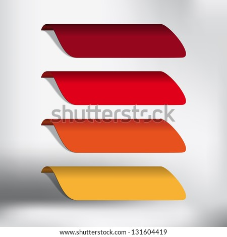 Labels - Stickers on the top of the (web) page - template button - stock vector