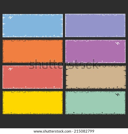 labels, tags, stickers - stock vector