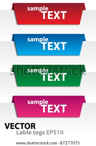 Labels tags vector EPS10 - stock vector