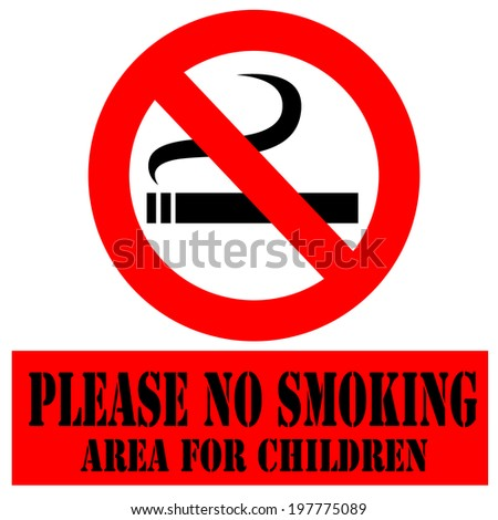 Labels with  text Please No Smoking,vector illustration