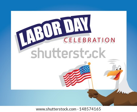Labor Day background. EPS 10 vector, grouped for easy editing. No open shapes or paths. - stock vector