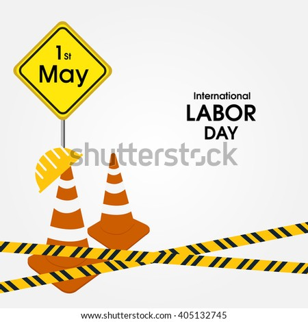 Labor day card design or illustration for international labor day.