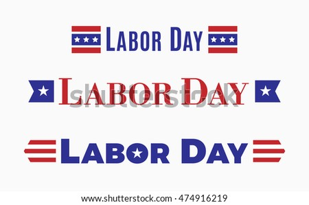 Labor day, Holiday in United States of America celebrated on first monday in September, vector illustration,