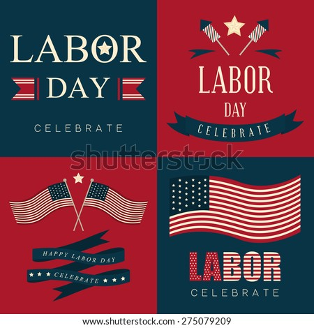 Labor day icon and background - stock vector