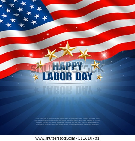 Labor Day in the American Background. Vector illustration - stock vector
