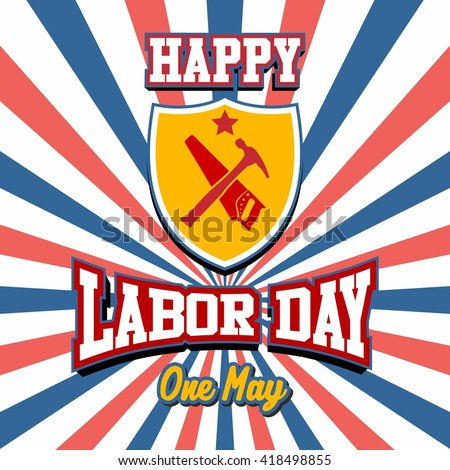 Labor Day Logo Template Stock Vector   Shutterstock