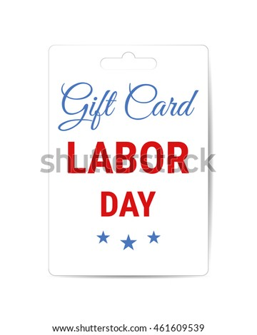 Labor Day sale gift card template