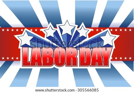labor day sign illustration design graphic background - stock vector