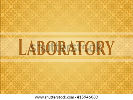 Laboratory card or poster