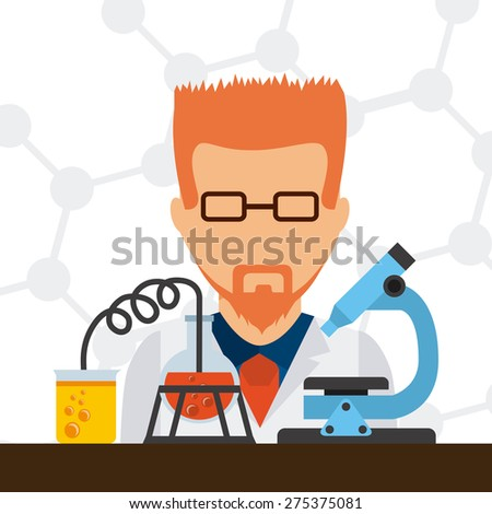 laboratory concept design, vector illustration eps10 graphic  - stock vector