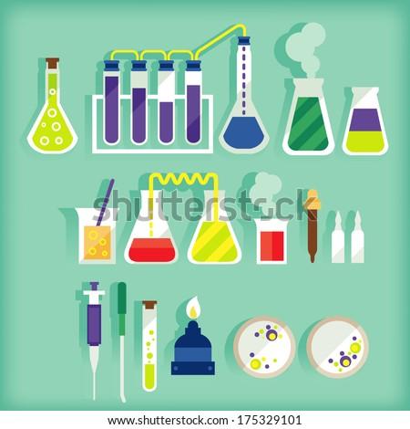 laboratory equipment - stock vector
