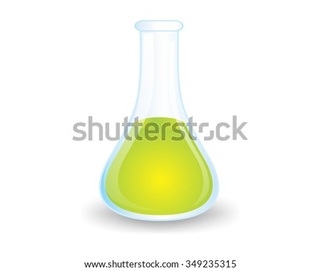 laboratory glass character illustration logo icon vector
