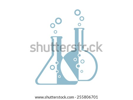 Laboratory glass icon on white background - stock vector