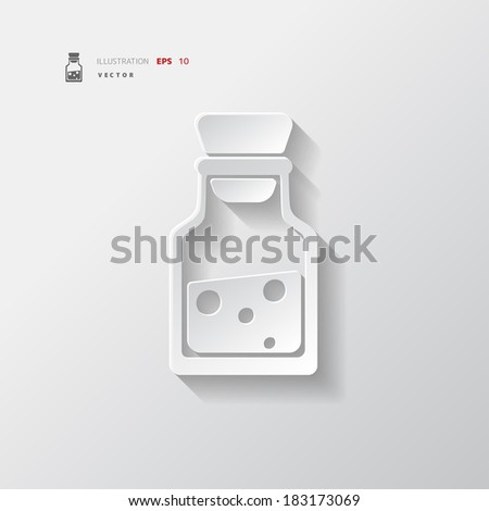 Laboratory medical flask - stock vector