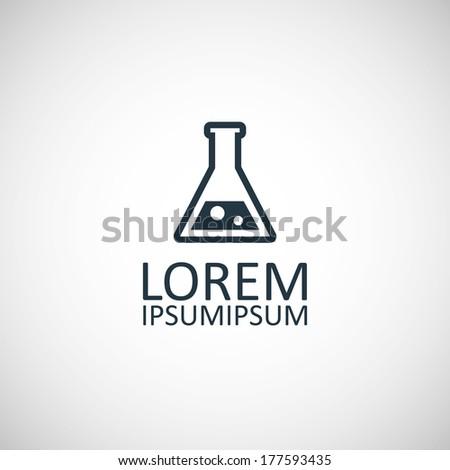 laboratory symbol - stock vector