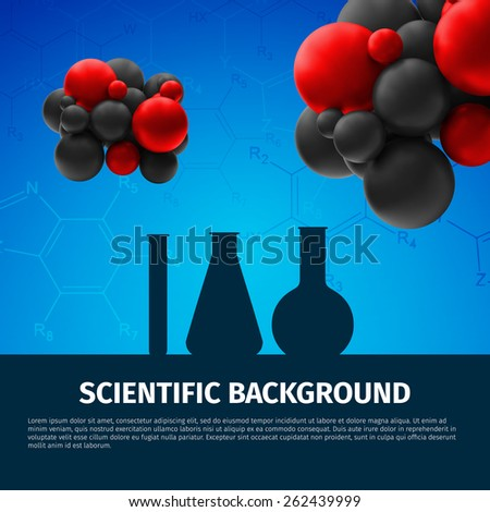 Laboratory tools  Macro image. Laboratory concept, excellent vector illustration, EPS 10 - stock vector