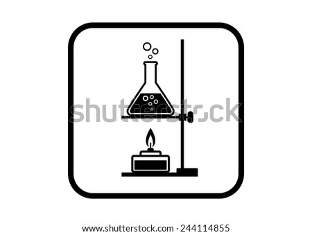 Laboratory vector icon on white background - stock vector
