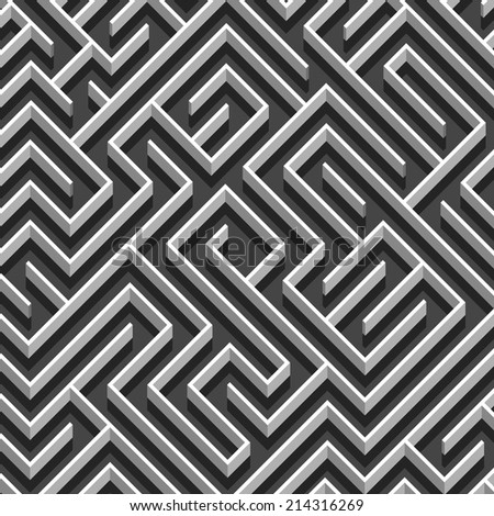 Labyrinth abstract background - stock vector
