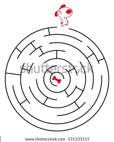 labyrinth - maze - stock vector