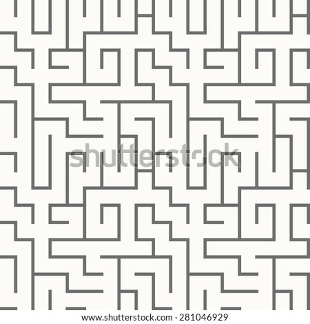 Labyrinth pattern - stock vector