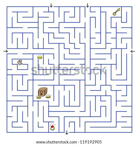 Labyrinth. Vector illustration. - stock vector
