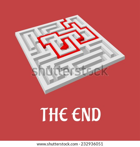 Labyrinth without exit as the end concept for business design - stock vector