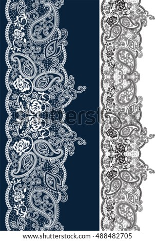 Lace. All elements and textures are individual objects. Vector illustration scale to any size.