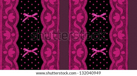Lace and mesh seamless pattern. - stock vector