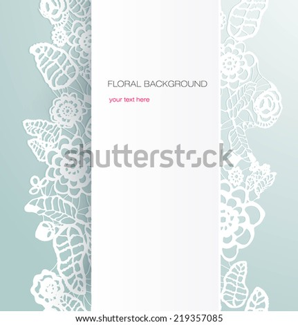 Lace background. - stock vector