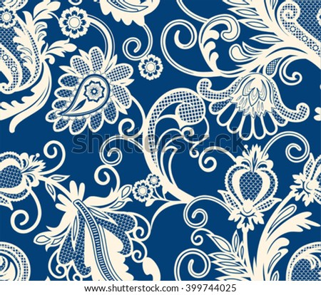 Lace design element. Seamless pattern.