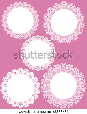 lace frame set - stock vector