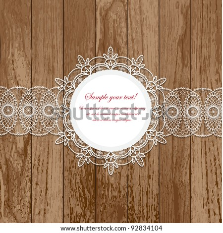 Lace frames - stock vector