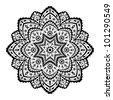 Lace ornament - stock vector