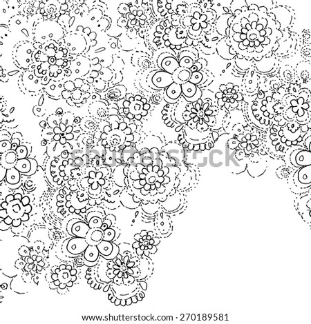 Lace Template | Abstract Lace Template Frame Design Card Stock Vector 270189542