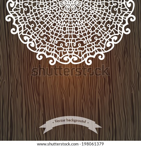 Lace retro background.  Vector illustration for greeting cards, invitations, and other printing and web projects - stock vector