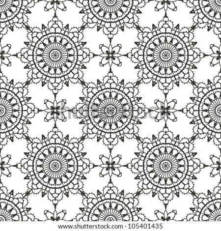 Lace seamless pattern. EPS 8 vector illustration - stock vector