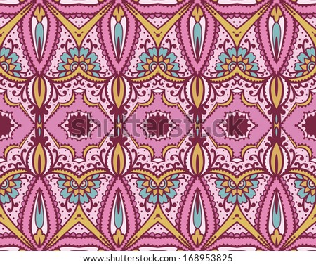 lace seamless pattern, ornament background - stock vector