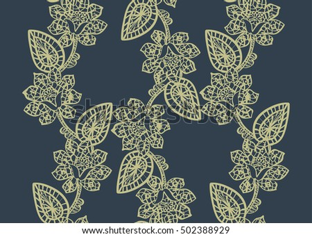 Lace Seamless Pattern. Vintage pattern with lace.