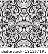 Lace vector fabric seamless  pattern with roses - stock