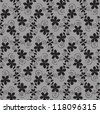 lace with floral pattern. Seamles background - stock vector