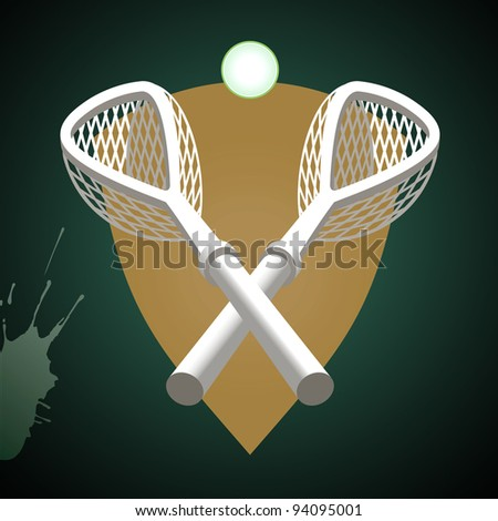 Lacrosse sticks. - stock vector
