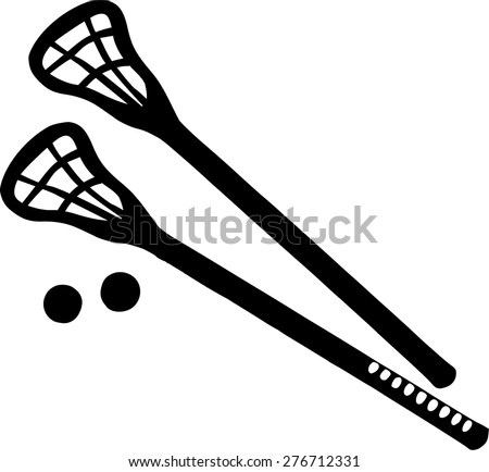 Lacrosse Sticks with balls
