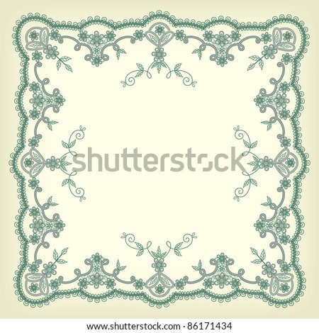 lacy patterns with frame in vintage style