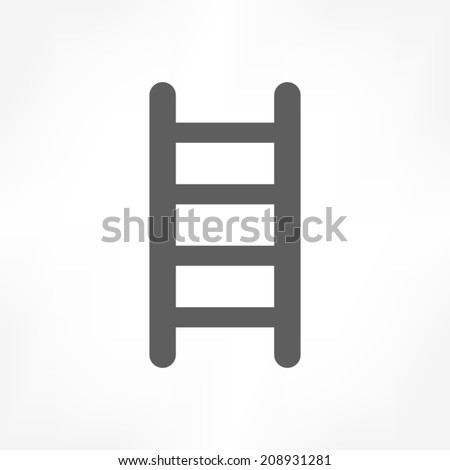 ladder icon - stock vector