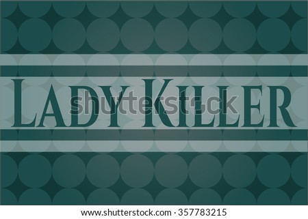 Lady Killer colorful card - stock vector