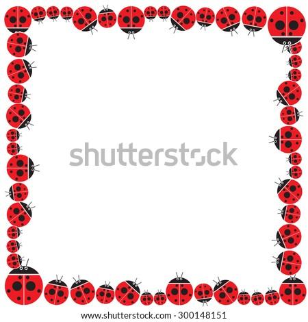 Ladybug Frame Design Vector Border Stock Vector (Royalty Free ...