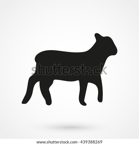 lamb icon isolated on background. Modern flat pictogram, business, marketing, internet concept. Trendy Simple vector symbol for web site design or button to mobile app. Logo illustration