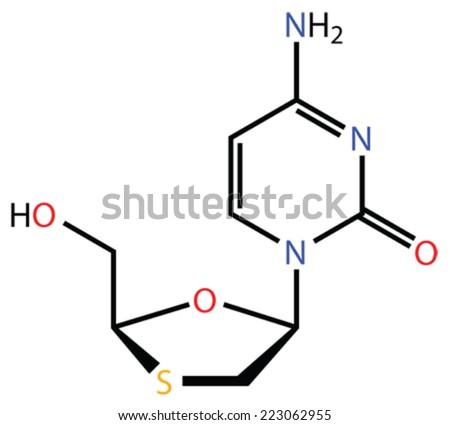 Lamivudine, a perspective treatment of Ebola virus disease - stock vector
